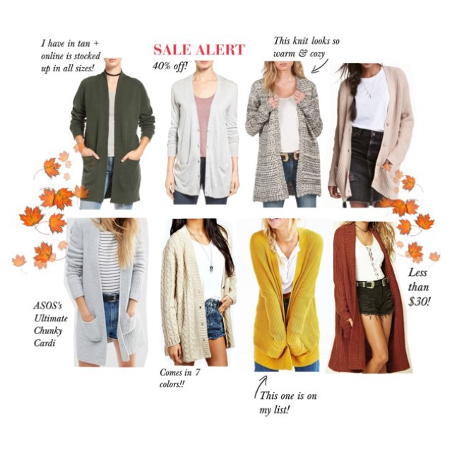 My Top 8 Cardigans For Fall Lightweight Chunky Knit